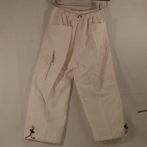 Nike White Cotton Casual Capri Elasticated Pants M